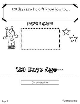 120th Day of School Flip Book