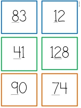 120th Day of School Place Value Sort