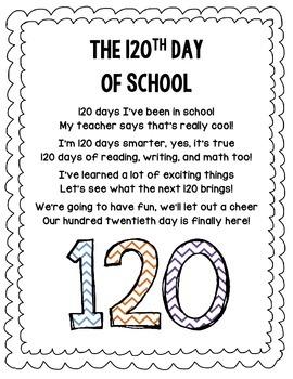 120th Day of School Poem