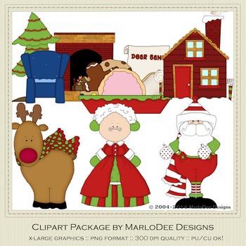 1225 Santa Claus Lane Clip Art Graphics