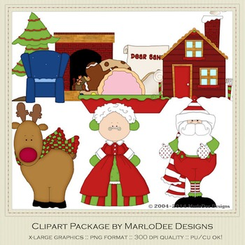 1225 Santa Claus Lane Clip Art Graphics