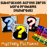 Math Mystery Pictures Color By Number Subtraction Across Zeros Word Problems