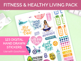 123 Digital Fitness Healthy Living Clip Art - Sticker PNGs