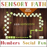 Numbers Sensory path for school, Printable floor decals, M