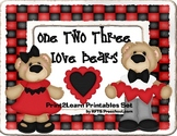 123 Love Bears {Valentines Early Math}
