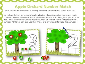123 Morning Work Apple Theme Numbers
