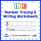 123 Number Tracing and Writing Worksheets