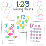 123 Numbers Coloring Sheets