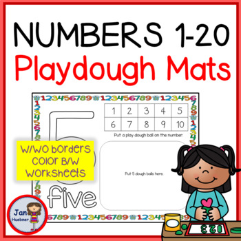 123 PLAYDOUGH MATS 0-20