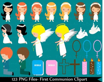 123 PNG Files- First Communion ClipArt -Digital Clip Art 134
