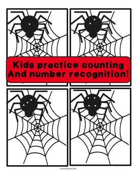 123 Spider Sort - Number and Counting Activity with File Folder Bonus!