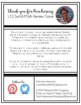 123 Switch Math Game
