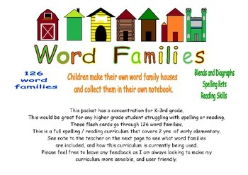 126 Word Family Flashcards Sample Pack
