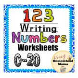 123 Writing Number Worksheets 0 to 20 for Beginning Writers