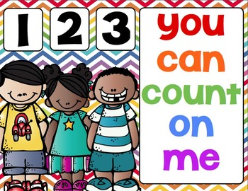 1,2,3,  You Can Count On Me (Counting practice for the start of the year)