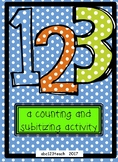123 a counting and subitizing activity