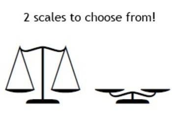 123AlgebraScales1 - Font for Algebra scales