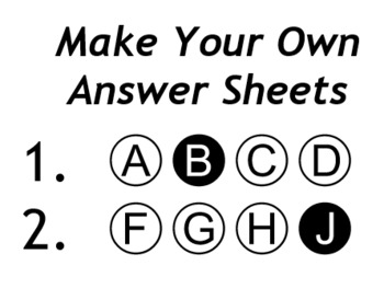 123Testing - Font for answer bubbles