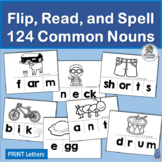 124 Common Noun Phoneme Blending and Segmentation Flip Cards