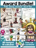 Awards Bundle - End of Year, Math, Writing, Genres, Grammar!