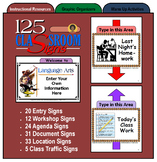 125 Classroom Signs for Structure and Organization