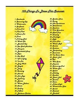 125 Things To Draw Each Season