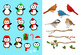 126 Christmas Clipart Mega Bundle, Winter Clipart Kit, Holiday Clipart Pack