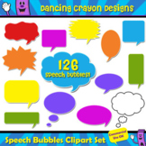 126 Speech Bubbles - Clip Art Set - Talk Frames