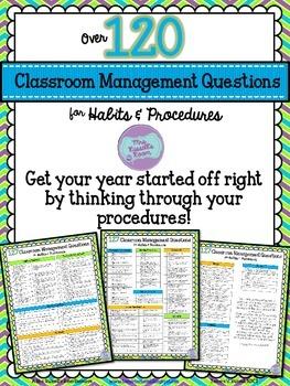 127 Classroom Management Questions {FREEBIE}