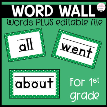 128 First Grade High Frequency and Sight Words for Your Word Wall!
