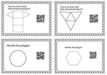 128 Geometry Vocabulary Task Cards
