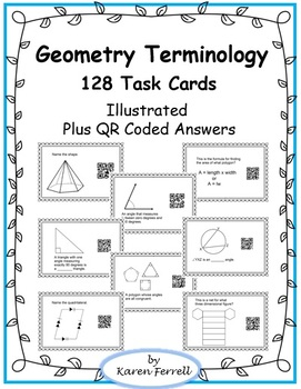 Geometry Terms - 128 Task Cards