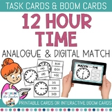 Telling Time: 12-hour Time Clip Cards