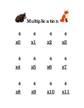 12pages 3rd Grade Multiplication Numbers 1s 2s 3s 4s 5s 6s 7s 8s 9s 10s 11s 12s