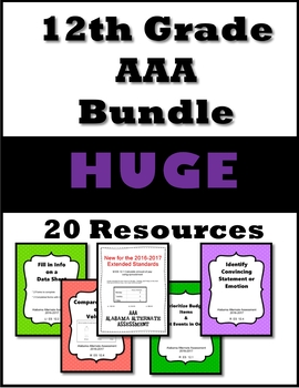 12th Grade AAA Resource Bundle