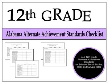 12th Grade Alabama Alternate Achievement Standards Checklist