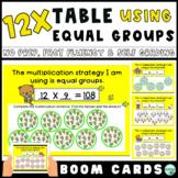 12x Multiplication Fact Fluency Practice: Equal Groups Str