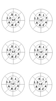 12x Multiplication Wheels