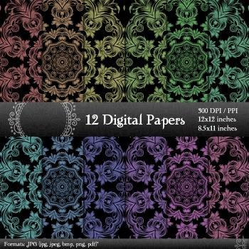 12x12 + 8.5x11 Inch Decorative Journal Piecing Graphics De