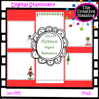 12x12 Christmas Theme Digital Stationery