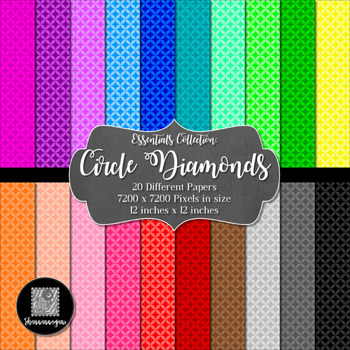 12x12 Digital Paper - Basics: Circle Diamonds (600dpi)