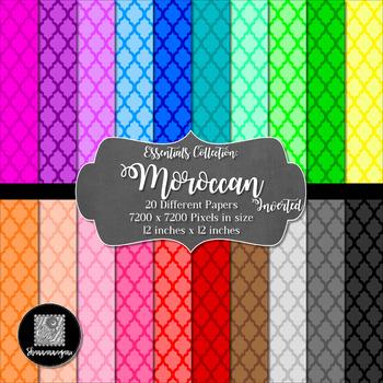 12x12 Digital Paper - Essentials: Moroccan (Inverted)