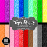 12x12 Digital Paper - Essentials: Tiger Stripes (FREE)