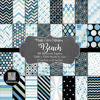 12x12 Digital Paper - Beach Collection (600dpi)