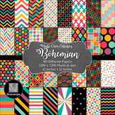 12x12 Digital Paper - Bohemian Collection (600dpi)