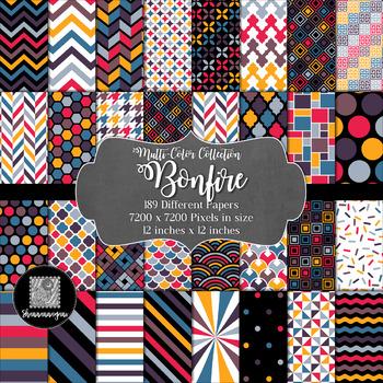 12x12 Digital Paper - Bonfire Collection (600dpi)