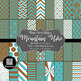 12x12 Digital Paper - Color Scheme Bundle: Mountain (600dpi)