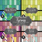12x12 Digital Paper - Bundle: Spring (Papers included in description)