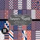 12x12 Digital Paper - Color Scheme Bundle: Summer (600dpi)