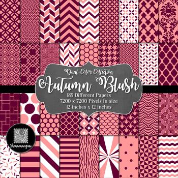 12x12 Digital Paper - Color Scheme Collection: Autumn Blush (600dpi)
